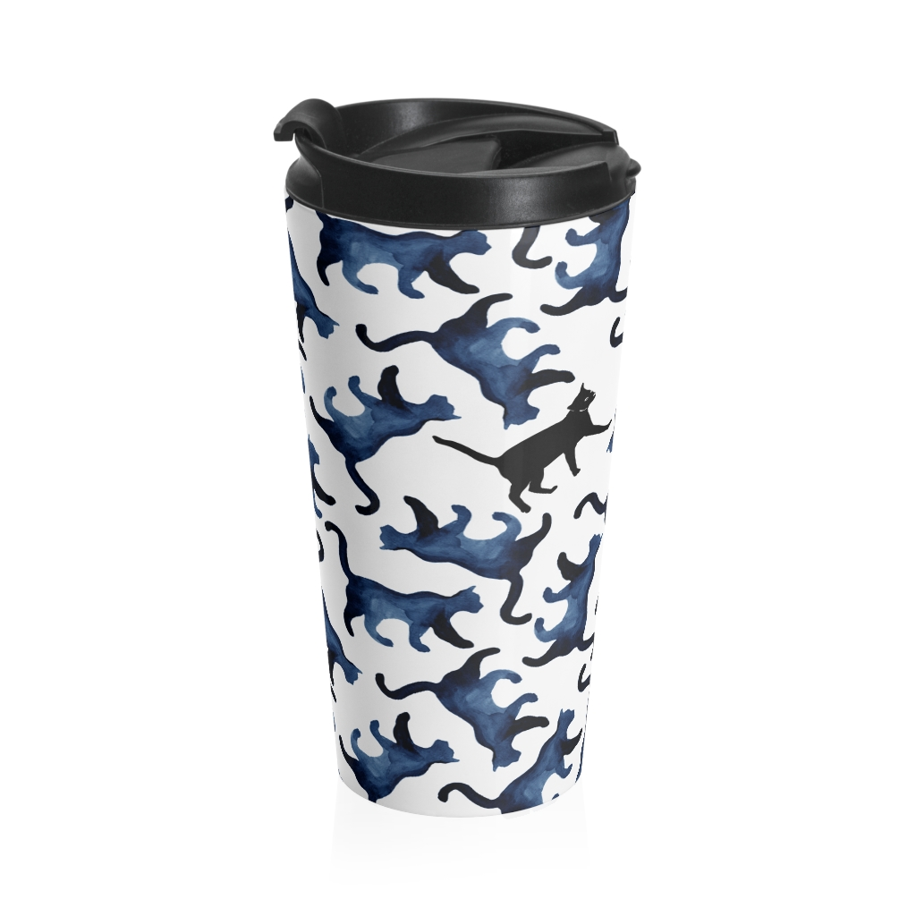Find our Cat Stainless Steel Travel Mug