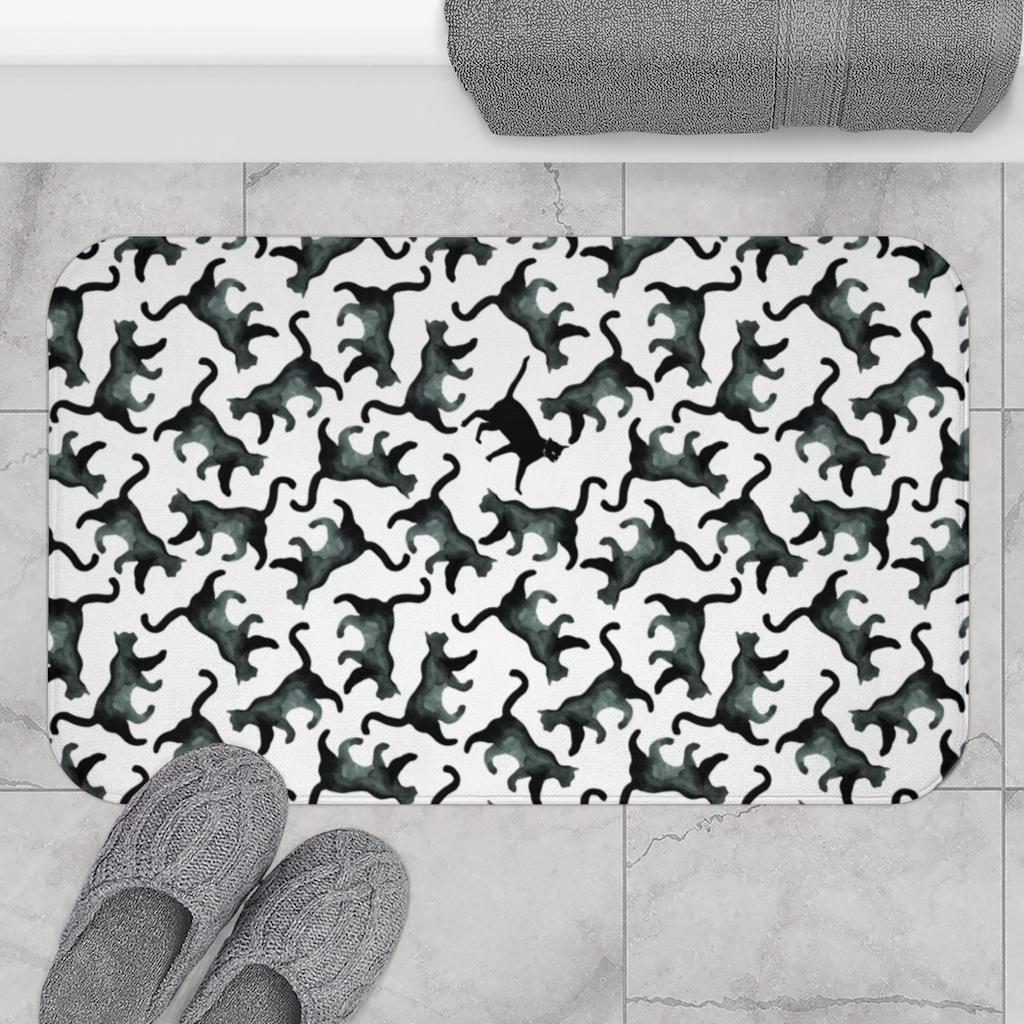 Hidden Cat Bath Mat