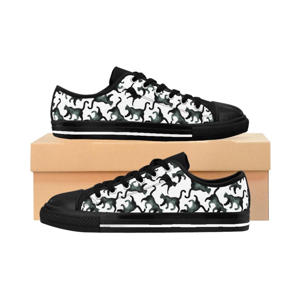Women's Hidden Cat Sneakers – Black