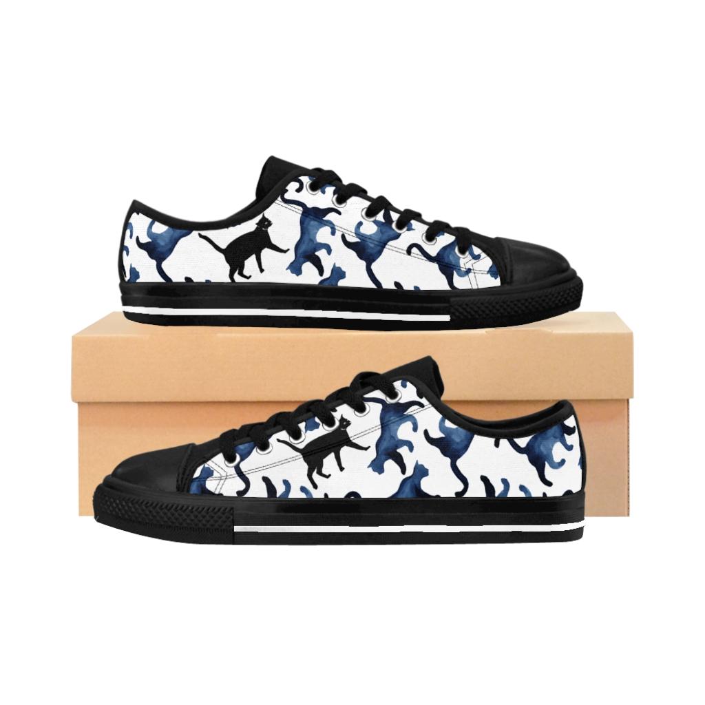 Women's Hidden Cat Sneakers – Blue
