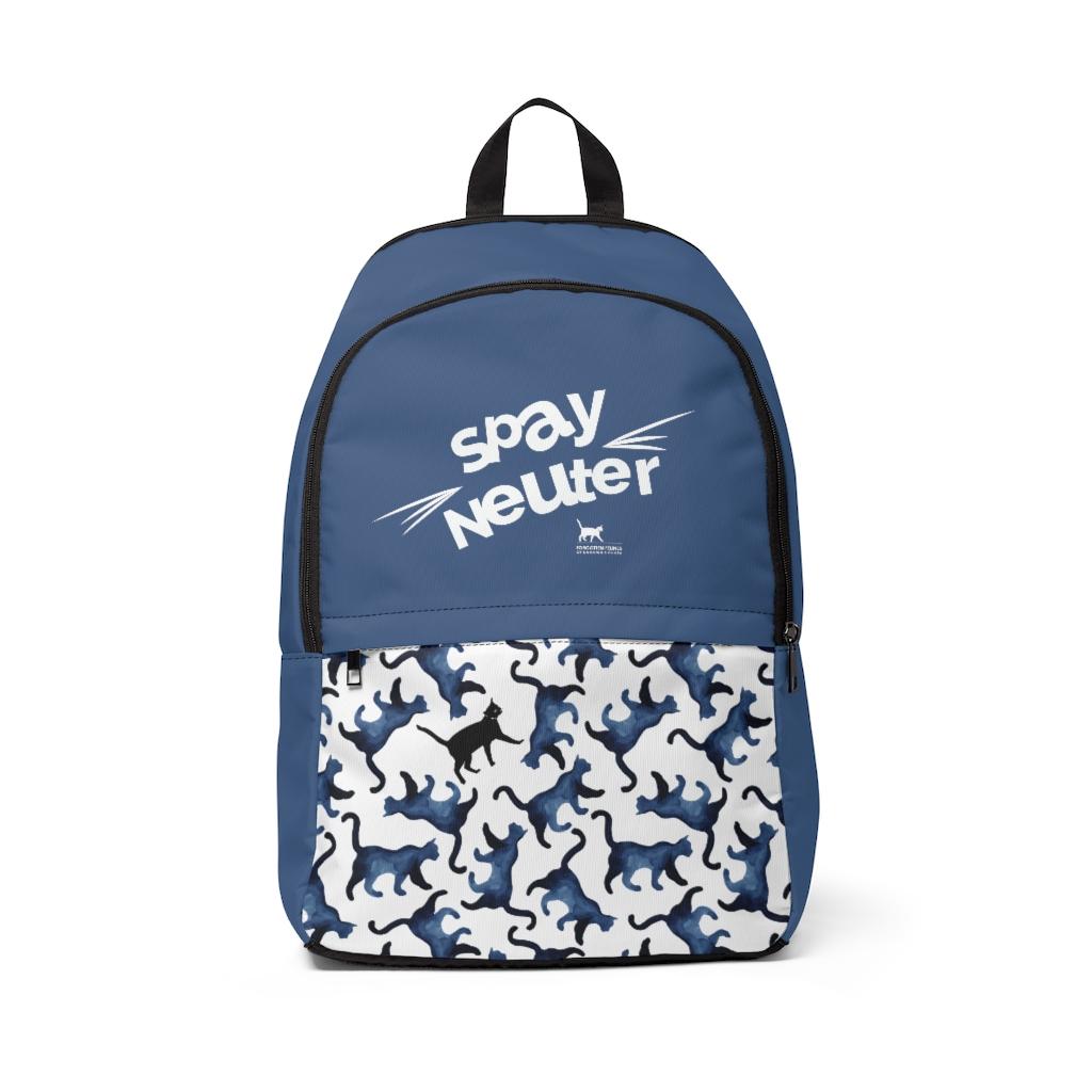 Hidden Cat Backpack – Blue