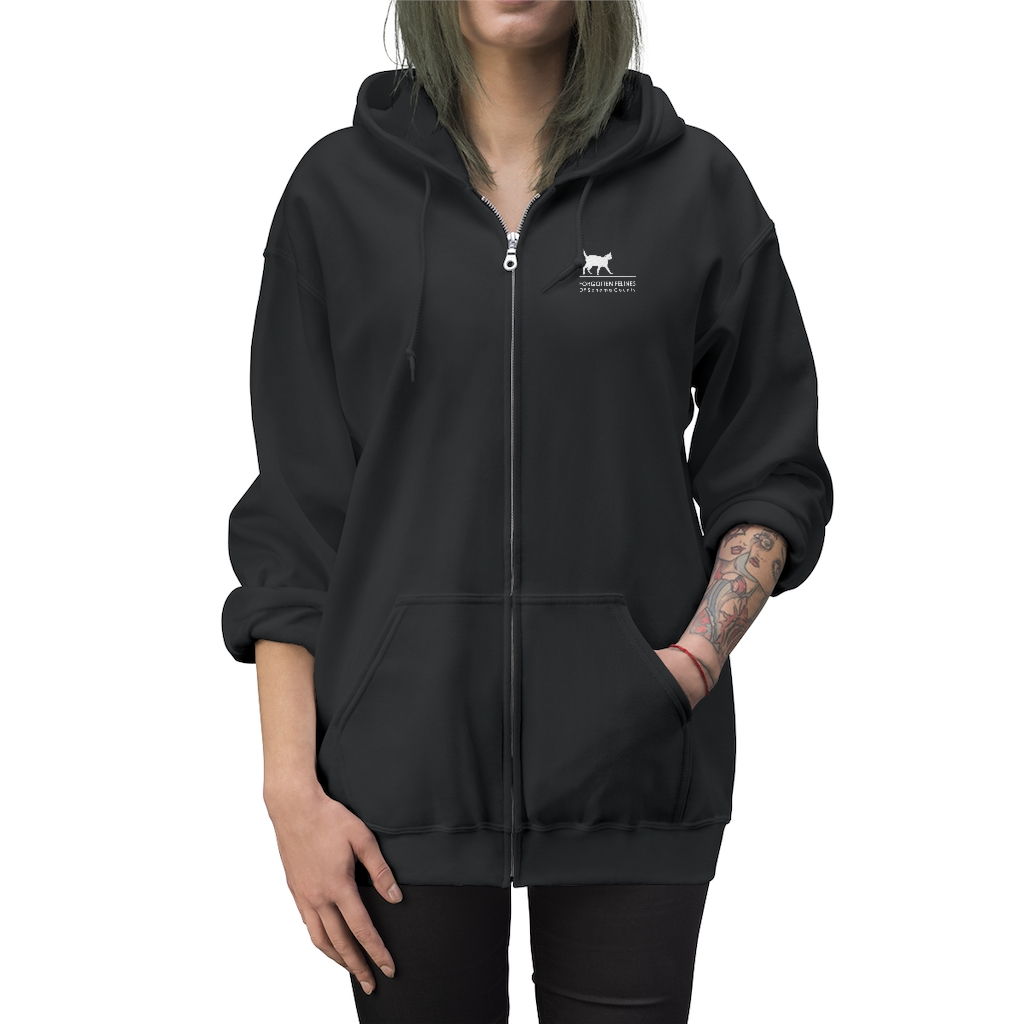 Unisex Zip Up Embroidered Logo Hoodie – 8 Colors Available