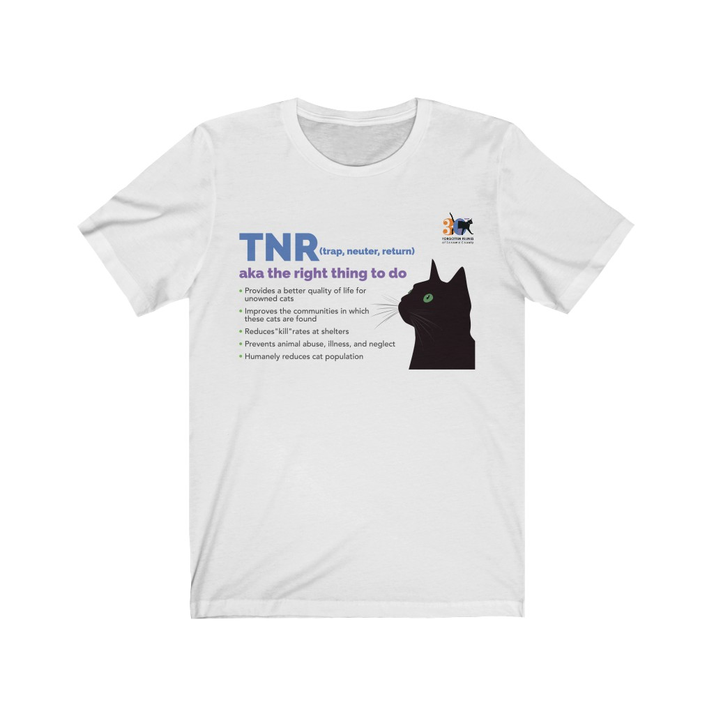 TNR – It's the right thing to do – Unisex Jersey Short Sleeve Tee