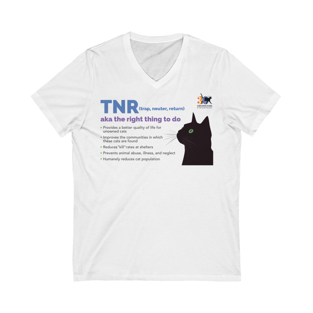 TNR – It's the right thing to do – Unisex Jersey Short Sleeve V-Neck Tee